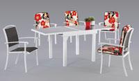 Set sillas y mesa estructura aluminio modelo PRESCOTT