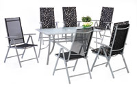 Set sillas y mesa estructura aluminio modelo PRUSIA