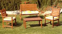 Set banco, sillas y mesa madera modelo RANGER