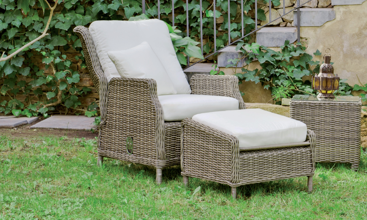 Set de luj para exteriores sill n multiposiciones for Sillones para exteriores precios