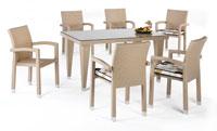 Set de sillas y mesa modelo ROSTOCK