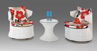 Set de sillones y mesa modelo RUBENS