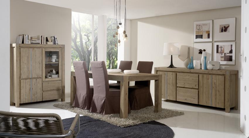 Salon comedor con estilos moderno y rustico - Muebles estilo rustico moderno ...