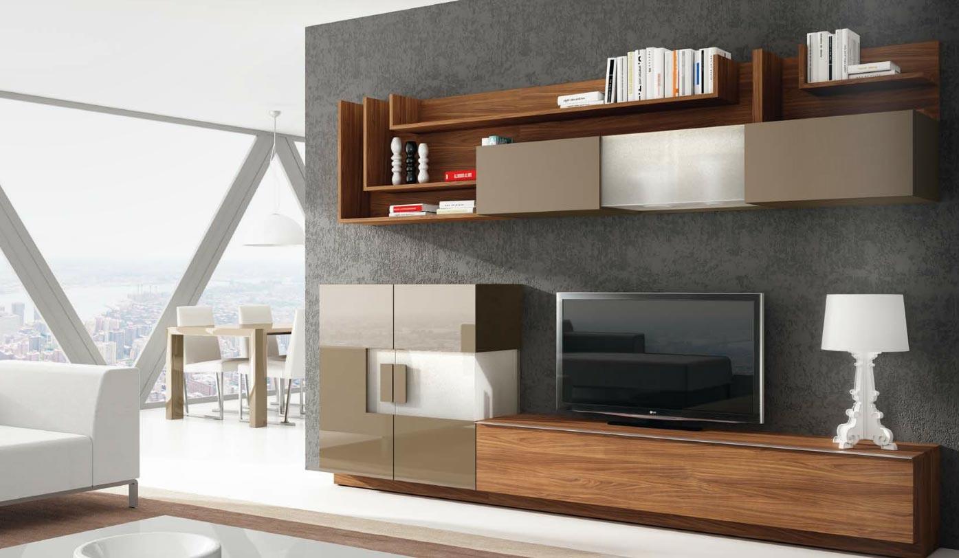 Sal n modular moderno 109 muebles de interior muebles for Salones de madera modernos