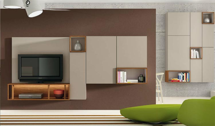 Salones lacados modernos - Salones modulares modernos ...