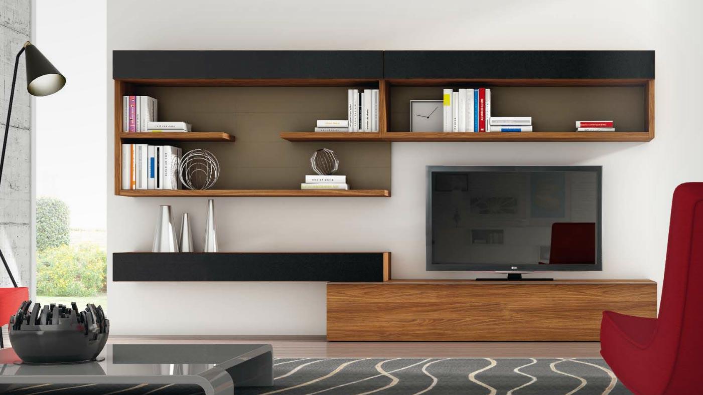 Sal n modular moderno 120 muebles de interior muebles for Salones de madera modernos