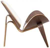 Sill�n modelo Nordic - Sill�n modelo Nordic, armaz�n de madera curvada, chapada nogal y barnizada
