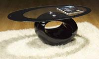 Mesa baja BOND cristal  - Mesa baja BOND, disponible en varios colores, cristal, 110 x 60 cms