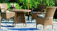 KEN - Aurillac Set de mesa y 4 sillones