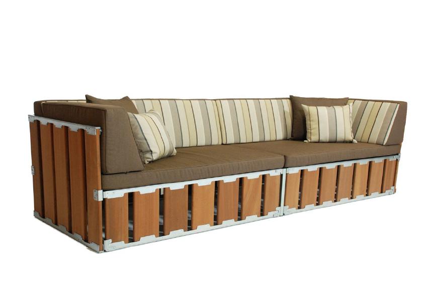 Mueble para exterior sof for Sofa exterior plegable
