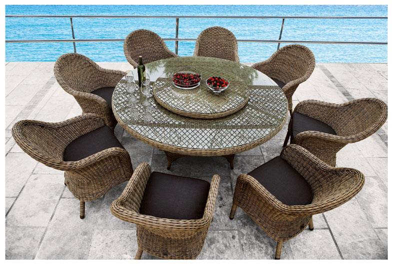 Set de jard n charlotte muebles de terraza y jard n for Mesas de rattan para jardin