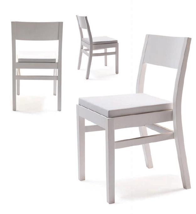 silla blanca lacada