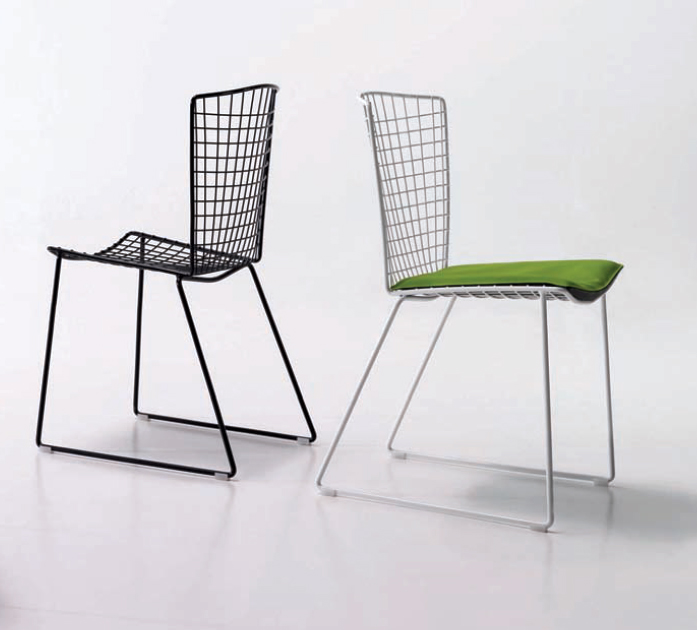 Silla de metal de rejilla moderna - Reparacion de sillas de rejilla ...