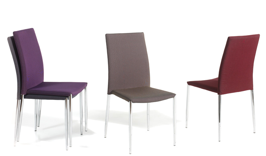 Silla de tapizadas en tela muebles de comedor, muebles de interior ...