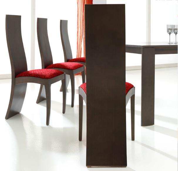 Sillas de madera tapizadas comedor images for Modelos de sillas de madera de comedor