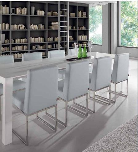 Sillas modelo hills patas cromadas muebles de comedor - Sillas azules comedor ...