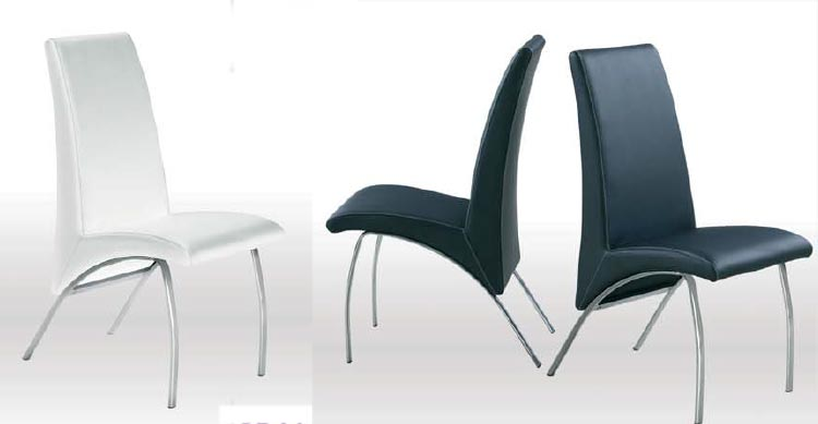 patas cromadas para muebles silla tapizada en pvc estructura cromada