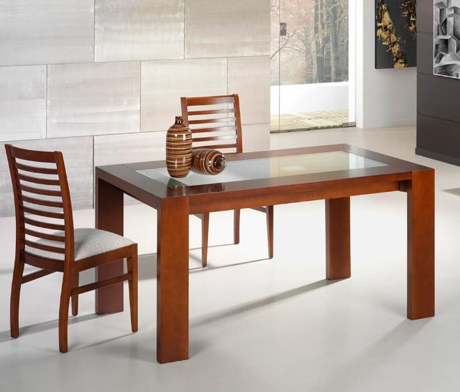 Silla madera moderna for Comedor tipo barra