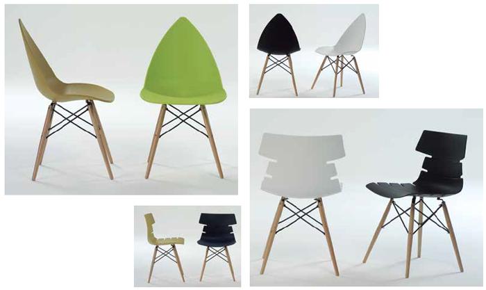 Sillas de resina modernas patas de madera for Sillas madera modernas