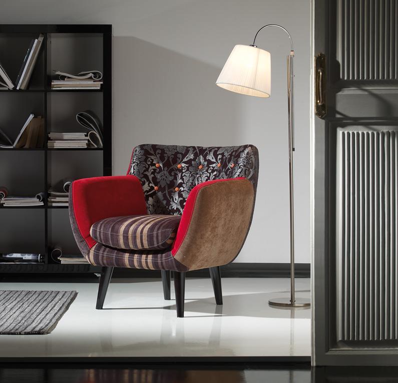 Sillón moderno retazos decorativos - Sillón moderno multicolor