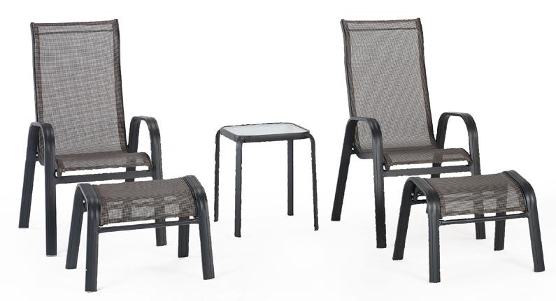 Juego sillones y mesa con estructura aluminio eiffel for Juego sillones exterior