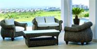 Set sofá, sillón y mesa de banana MADAGASCAR