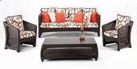 SOFA de EXTERIOR modelo Dinasty con sillones y mesa de diseño
