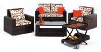 SOFA de EXTERIOR modelo LERIA con sillones y mesa