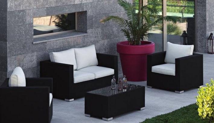 Set de sof s modernos modelo santorini muebles de terraza - Modelos de sofas modernos ...