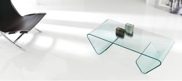 mesa de centro de cristal moderna mesa baja de salon de cristal con revistero a