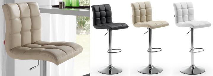 Taburete alto con respaldo y sillas altas de cocina for Sillas barra cocina
