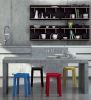 Estanter�a moderna y taburetes de cocina - En distintas medidas y acabados