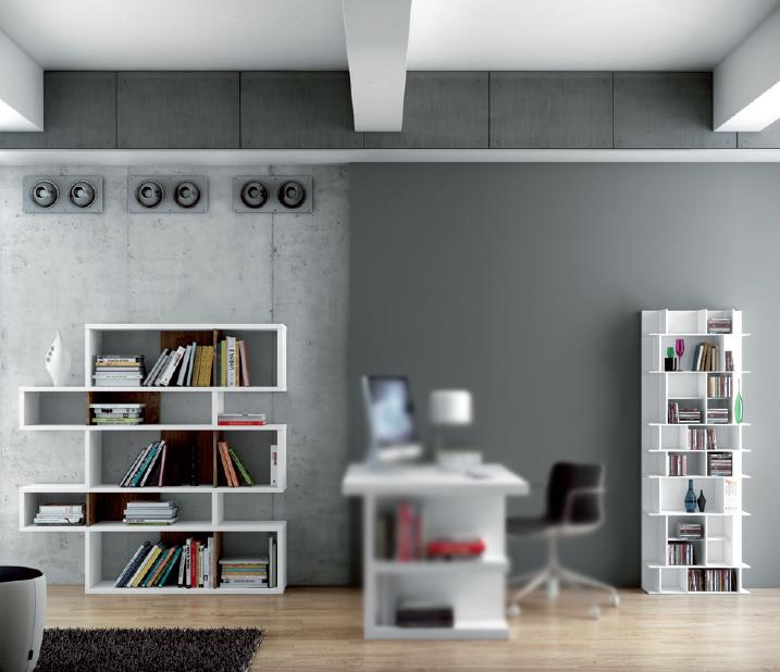 Estanter as bibliotecas salon modular - Estanterias para salon comedor ...