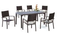 Set sillas y mesa estructura aluminio cubierto de textileno modelo TEUTÓN