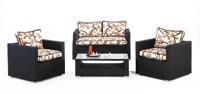 Set sillones y mesa estructura aluminio cubierto de textileno modelo TIBUR