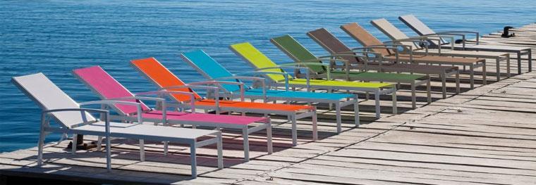 Kent tumbona cl sica de aluminio manesat muebles de for Tumbonas de jardin