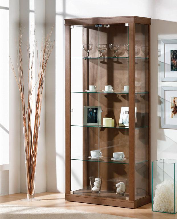 Vitrinas con puertas de cristal 2 muebles de comedor - Como decorar una vitrina ...