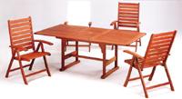 Set sillas y mesa madera modelo WINONG