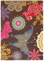Alfombra acrílica Xian-Butterfly III