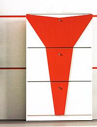 zapatero blanco y rojo nuovo 978