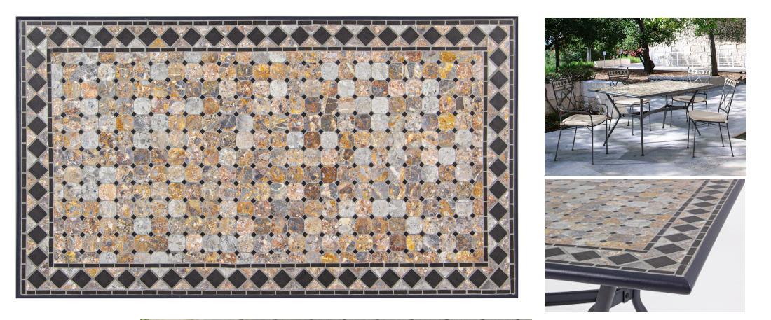 Mesas de mosaico para exterior jardin Madrid Barcelona Alicante