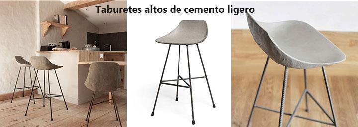 Muebles de cemento ligero para interior o exterior