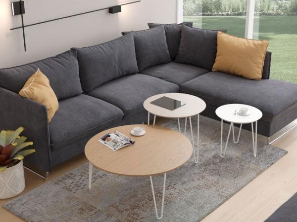 Nueva colección Kendra. Mesas de centro sencillas y modernas