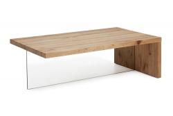 Sencillez y moderna. Nueva mesa de madera maciza y cristal.