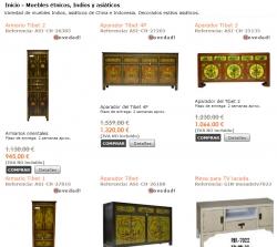 Venta online de muebles orientales