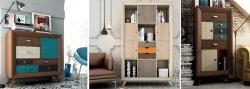 Muebles Vintage de colores, muebles de madera natural maciza y con encanto
