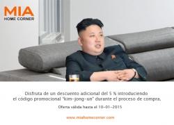El presidente Kim Jong-Un compra un sofá en MIA HOME y se toma un Selfie
