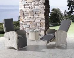 Muebles de jardín sofás con respaldo alto y reclinables