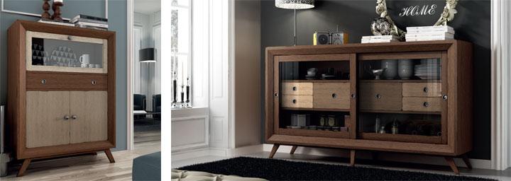 Muebles vitrina esquineros pino for Aparadores de salon
