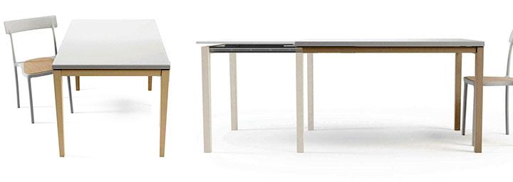 Mesa de cocina moderna para cocina moderna new york - Mesa de cocina extensible cancio concept blanco ...